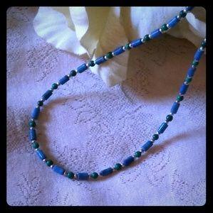 Vintage Lapis Bead Choker Necklace